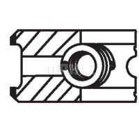 MAHLE ORIGINAL Dugattyúgyűrű/dugattyú készlet 03843n0