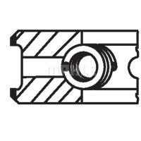 MAHLE ORIGINAL Dugattyúgyűrű/dugattyú készlet 06106n0