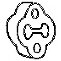BOSAL Kipufogó tartó gumi 255170
