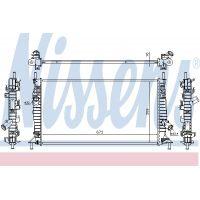NISSENS Motorvízhűtő 62017A