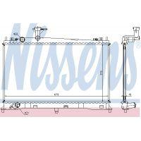 NISSENS Motorvízhűtő 62462a