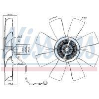 NISSENS Hűtőventillátor 86021