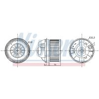 NISSENS Utastér-ventillátor 87245