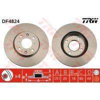 TRW Féktárcsa DF4824
