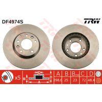 TRW Féktárcsa DF4974S