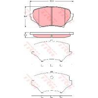 TRW Fékbetét GDB3401